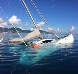 Salvage of Pioneer Catamaran 38ft